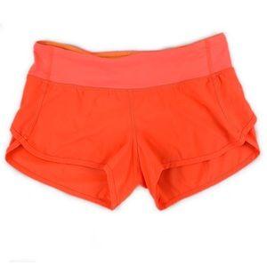 "Lululemon Rare Neon Coral Run Speed Shorts 3"""